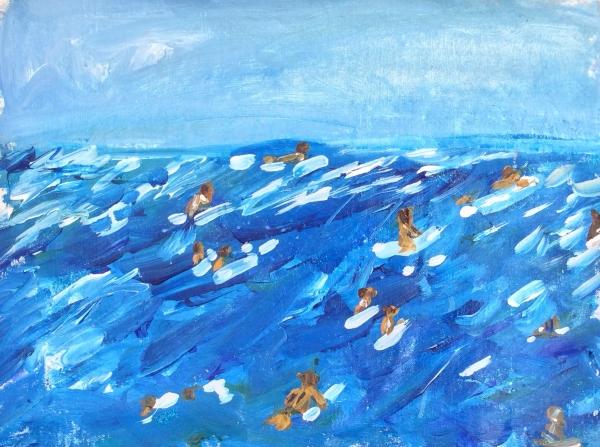 "16x22"" 2014, glitter acrylic canvas"